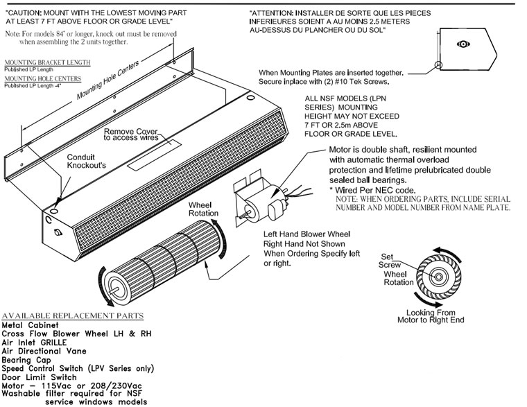 maintenance_instruction air doors & air door envirotec door curtain wiring diagram at soozxer.org