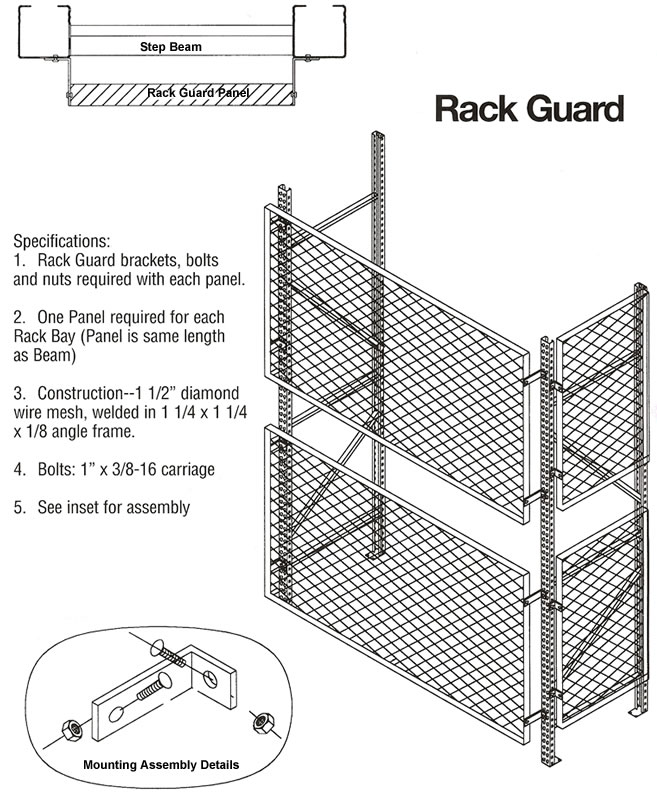 Rack Guard, Steel Rack Guards, Rack Safety, Welded Wire Mesh Rack ...