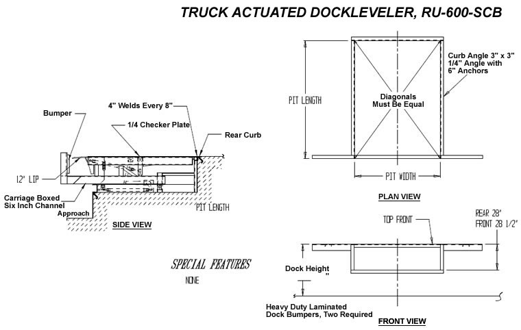 Dock Leveler Dock Levelers Truck Actuated Dock Levelers