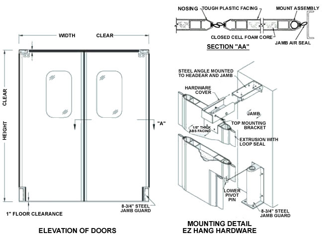 Ultra Lite Impact Doors Impact Traffic Door Rubbair Doors