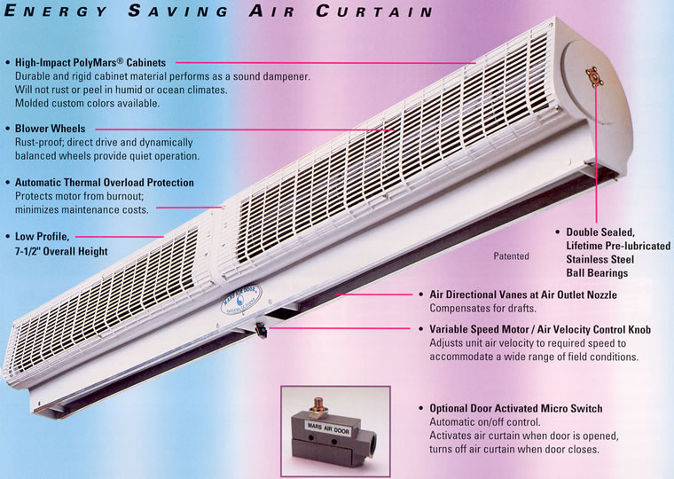 Curtains Ideas air curtain blower : Whispurr Air, Air Curtain Door, Air Curtains, Air Doors, Mars Air ...